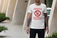 Camiseta Proibido celular na pista de da...