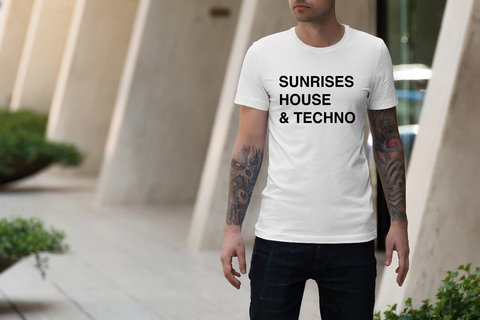 Camiseta  Sunrises, House & techno|Hypnotzd.com - Zetaz Camisetas