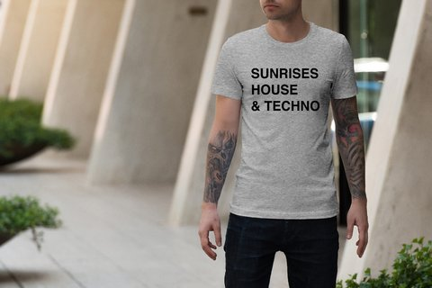 Camiseta  Sunrises, House & techno|Hypnotzd.com na internet