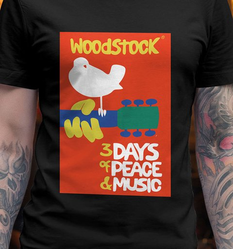 camiseta woodstock 1969