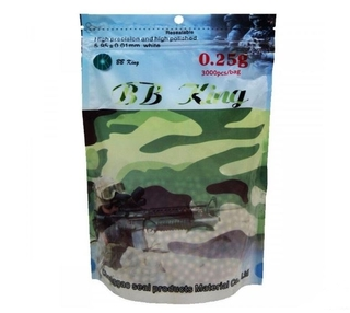 ESFERAS DE AIRSOFT BBS BB KING 0.25G 6mm