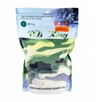 ESFERAS DE AIRSOFT BBS BB KING 0.25G 4000 UNDS