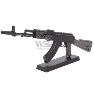 MINIATURA DECORATIVA EM METAL RIFLE AK74 BLACK - ARSENAL GUNS