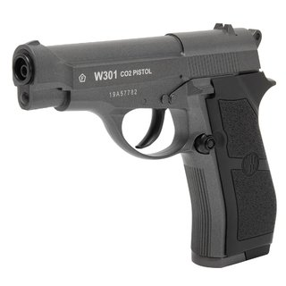 PISTOLA DE PRESSÃO A GÁS CO2 W301 FULL METAL 4.5MM