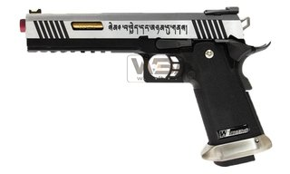 PISTOLA DE AIRSOFT WE HICAPA 6.0 T-REX SILVER GOLD