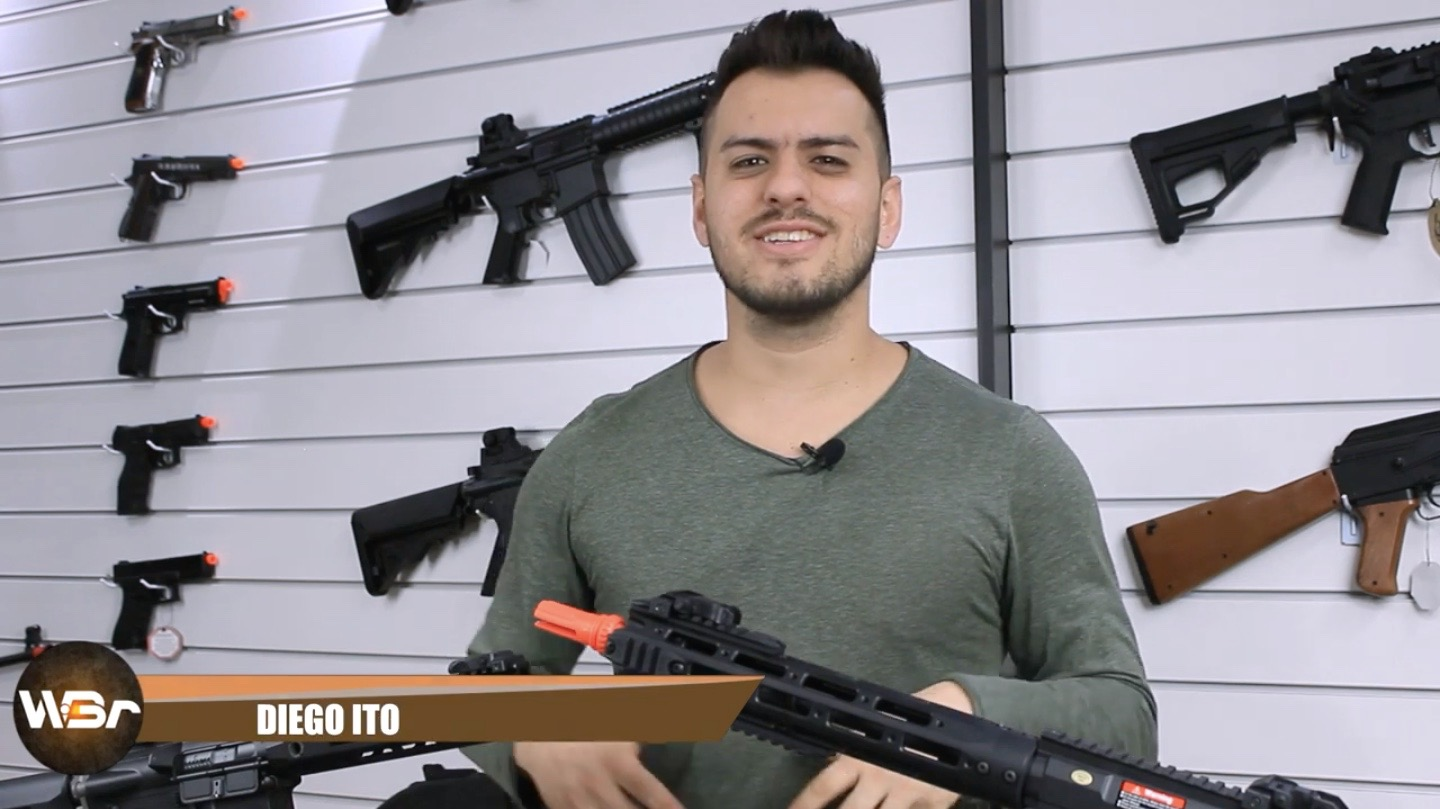 REVIEW DE AIRSOFT: RIFLE ARES AMOEBA AM 009 E RIFLE ARES KNIGHTS PRO SR16