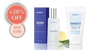 "Kit ""Eau de Toilette Akash + Gel After Shave Captivant"""