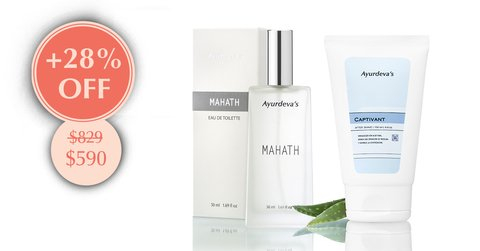 "Kit ""Eau de Toilette Mahath  y Gel After Shave Captivant"""