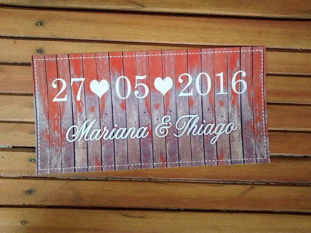 Placa Save the Date Wedding