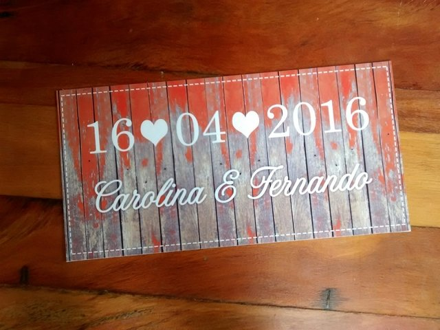 Placa Save the Date Wedding - comprar online