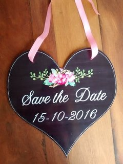 Plaquinha Save the Date para seu Pet