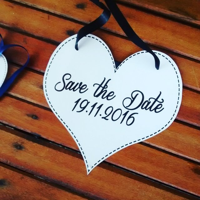 Plaquinhas Save the Date para os Pets - My Print Design