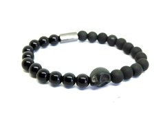 Pulseira Skull Black - 8mm na internet