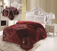 Frazada Triple Simil Piel Reversible Love And Home