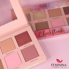 Paleta Cheek Flush de Blush, Contorno e Iluminador Ruby Rose