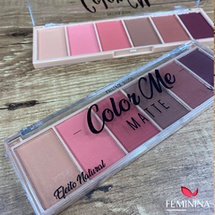 Paleta de Blush Matte 6 Tons Color Me Vivai 2004