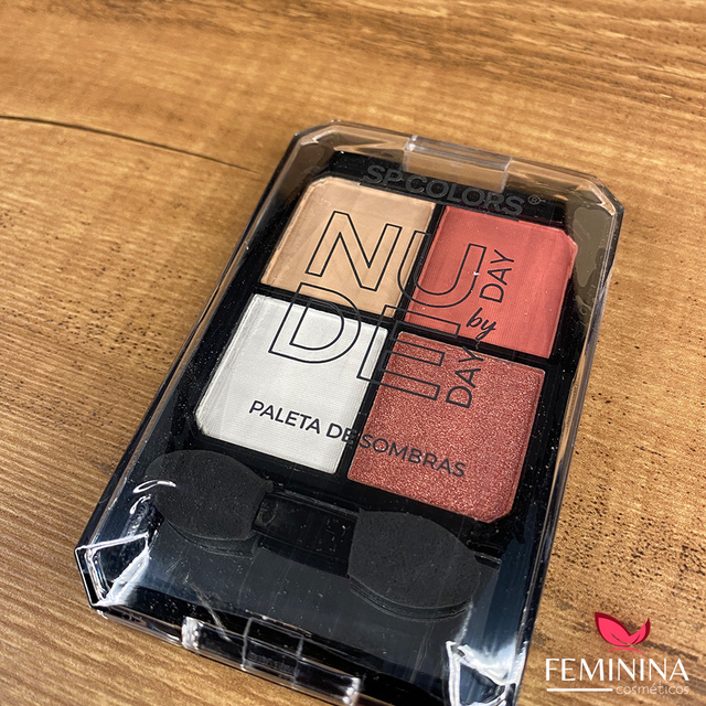 Paleta de Sombras Nude Day by Day SP Colors SP150 - Display