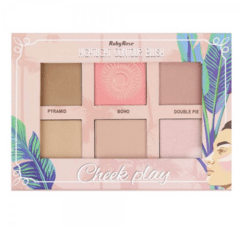 Paleta Cheek Play Hb 7502 Ruby Rose Hightlight
