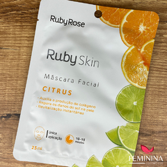 Máscara Facial de Tecido Citrus Ruby Rose