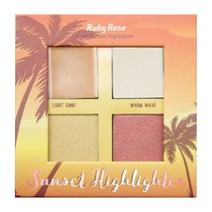 Paleta de Iluminador Sunset Highlighter Light Ruby Rose