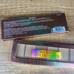 Paleta de Iluminador Pocket Shine Brighter Ruby Rose HB7510