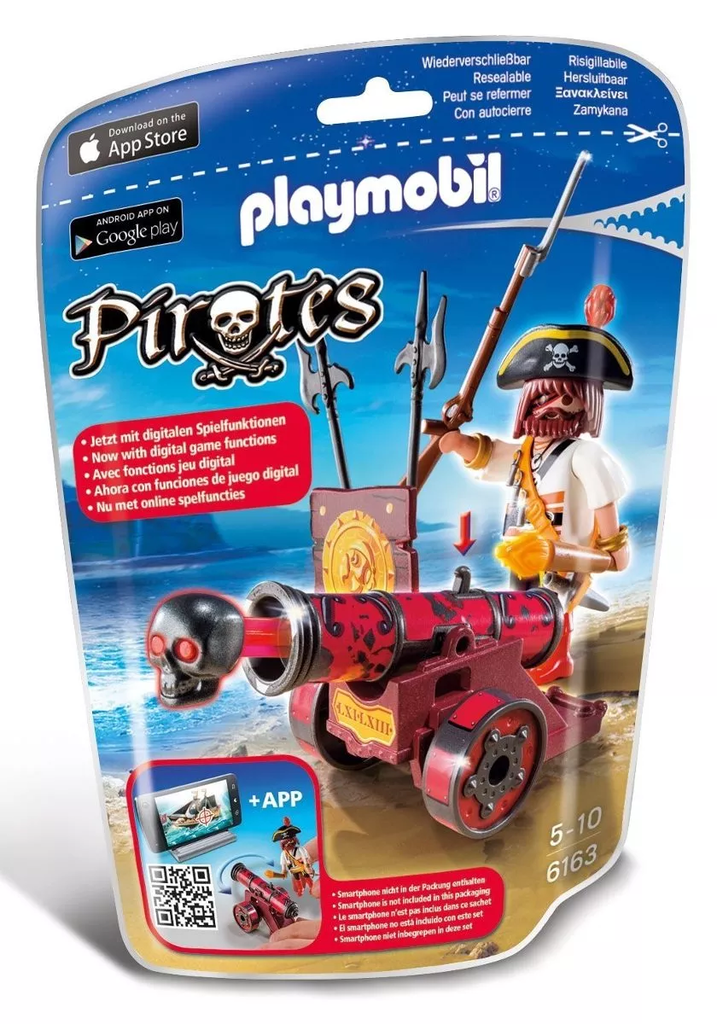 Playmobil Pirates Cañon ROJO Interactivo Pirata Original