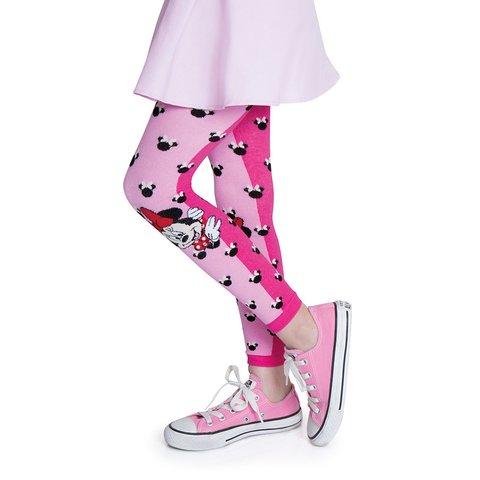 8aa866987 Meia calça legging infantil minnie rosa lobinha lupo