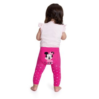 MEIA CALCA LEGGING BEBE MINNIE LUPO