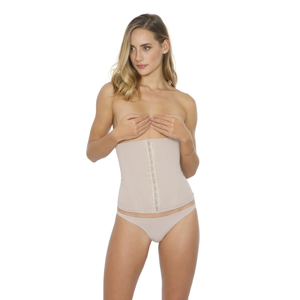 6ef0b1e30 Cinta corset alta compressao 4 barbatanas tecido duplo plie