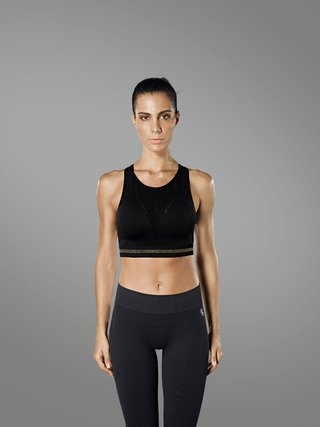 Top fitness pilates crosfit yoga nadador lurex lupo