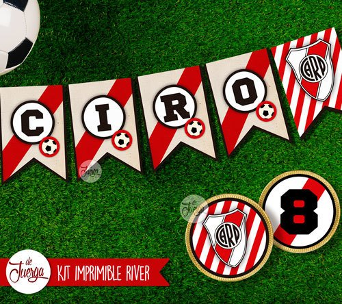 Kit Imprimible River Plate Cumple Candy Y Deco Personalizado