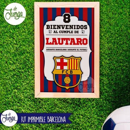 Kit Imprimible Barcelona Cumple Candy Y Deco Personalizado