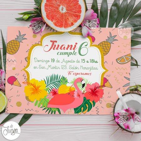 b5c11c45c Kit Cumple flamencos Candy y Deco Personalizado para imprimir