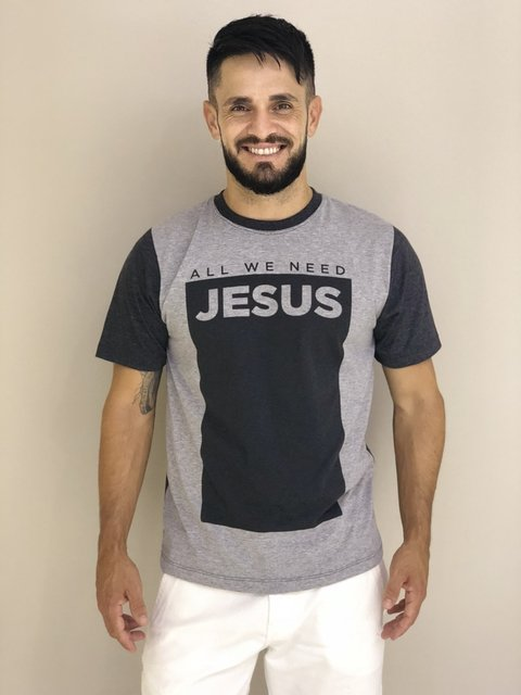 Camiseta All We Need Jesus na internet