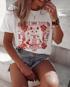 Remera Lucky Cat