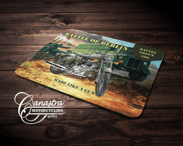 Mouse Pad Motociclismo Royal Enfield Battle Green Battle of Berlin