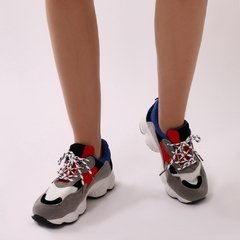 Chunky Sneakers Red/Blue - agustinagarfunkel