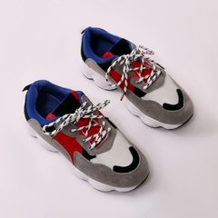Chunky Sneakers Red/Blue
