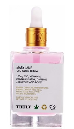 Truly Organic Mary Jane CBD glow serum