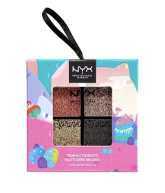 NYX Chocolate Shake spinkle cream glitter palette