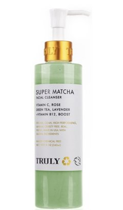 Truly organic super matcha facial cleanser