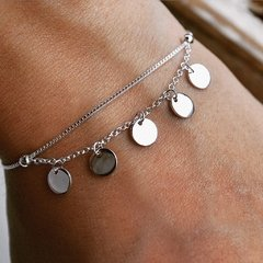 PULSERA COINS 18CM REGULABLE (PLATA 925) en internet