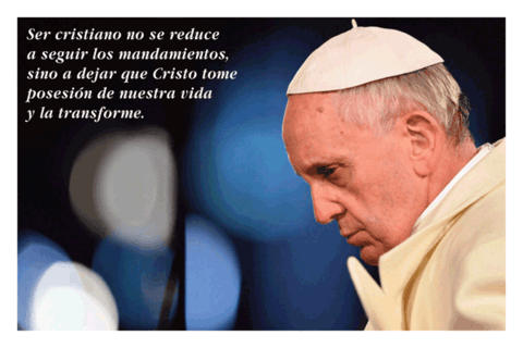 Estampas Papa Francisco en internet