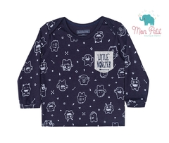 CAMISETA BABY LITTLE MONSTER MARINHO LUCBOO