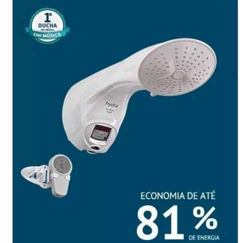 Ducha Digital Star Music Turbo 127 220 Hydra Mp3 Controle - Mistao Home Center