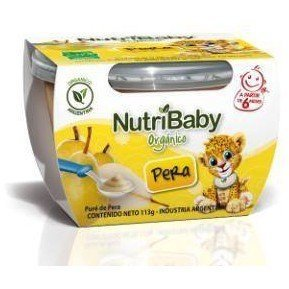NUTRIBABY Puré Pera - PACK 6x113grs