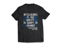 Camiseta Frase Stephen Hawking - SPACE TODAY STORE