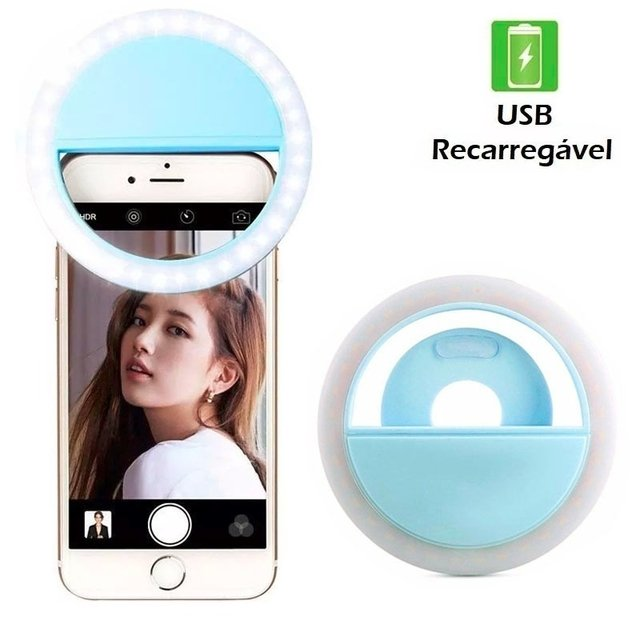 Luz De Selfie Ring Light Anel Led Flash Celular Tablet - loja online