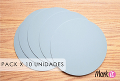 PACK X 10 UNIDADES - BASES REVERSIBLES 25 CM X 3 MM - PLASTICO EXTRA RESISTENTE
