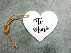 "PACK X 10 MINI BASES TAGS CORAZON COD. CO2101 DE 11 CM X 3 MM ""TE AMO"" - comprar online"